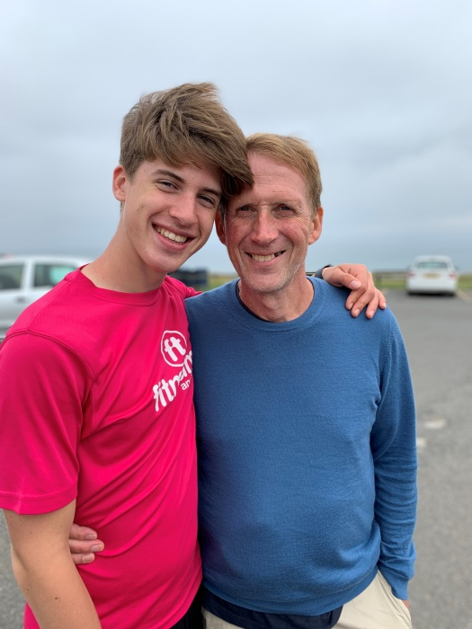 Ollie Barlow, left, with his Dad, Mike Barlow